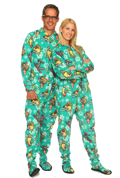 best footie pajamas for adults